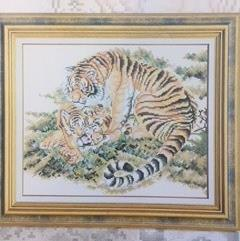 Cross Stitch Tiger by DMC