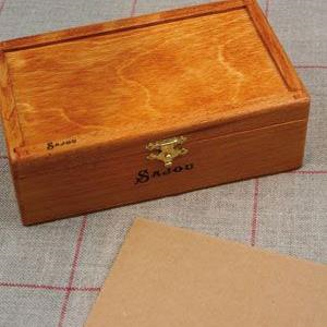 Wooden Box to Embroider by Sajou