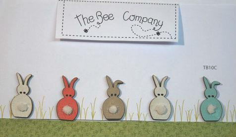 5 Spring Rabbits By The Bee Company