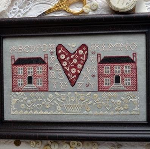 Little Pink Houses by Annie Beez Folk Art