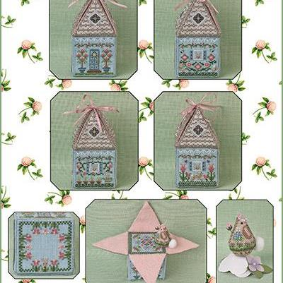Cloverly's Bunny Bungalow and Embellishments Ltd Edition by Just Nan