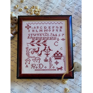Carmella's Red Sampler by Hands to Work