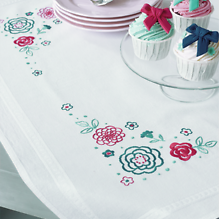Vervaco Tablecloth Kit - Embroidered Flowers