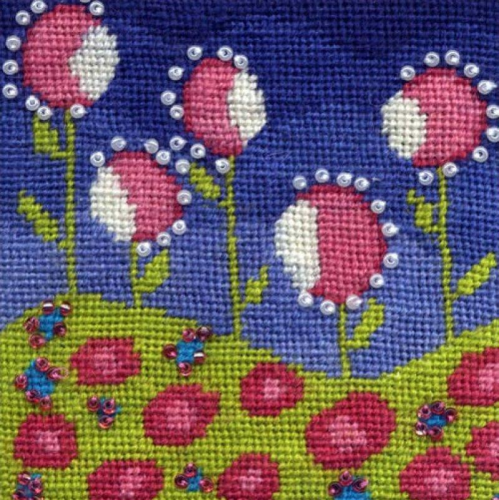 Field of Flowers by A Mary Self Needlepoint Design