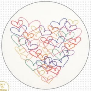 Hearts Stitchery Kit by Create Handmade