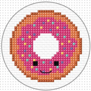 Cross Stitch Mini Donut Kit by Create Handmade - With Hoop