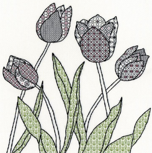 Blackwork Tulips by Bothy Threads