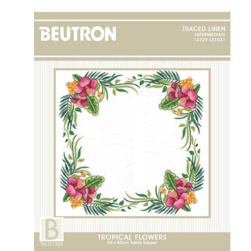 Tropical Flowers Table Topper Kit by Beutron