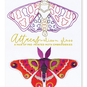 Attacus Embroidery by Alison Glass