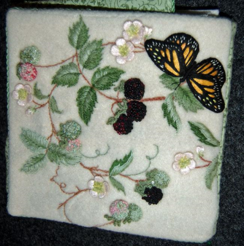 Blackberry Bramble Sewing Organiser By Windflower Embroidery.