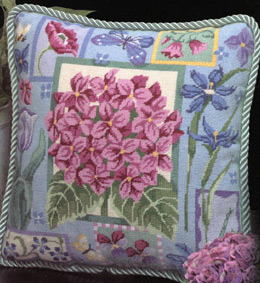 Hydrangea Needlepoint Pillow By Alice Peterson Company