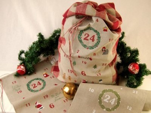Linen Band Advent Calendar