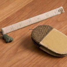 Acorn And Leaf Fob Ruler Chart by Dames of the Needle
