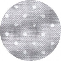 32CT Belfast Zwiegart Linen Grey with White Dots 7349 Per Meter