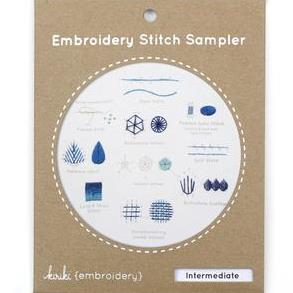 Intermediate Embroidery Stitch Sampler by Kiriki Press