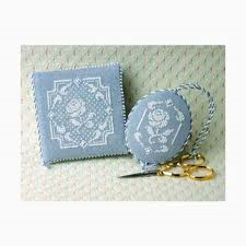 White Rose Needlebook And Fob By The Sweetheart Tree