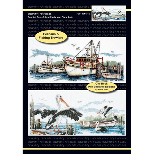 Fishing Trawlers and Pelicans by Country Threads