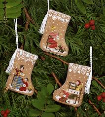 Gingerbread Mini Stockings By Victoria Sampler