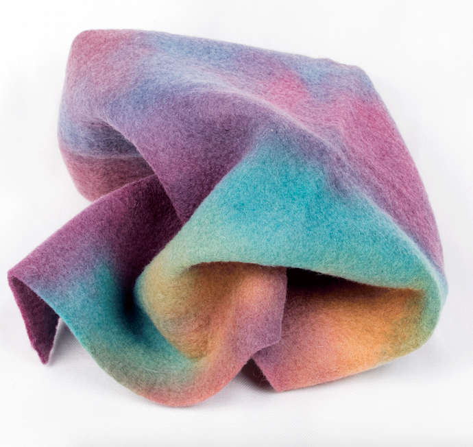 Colour Streams Hand Dyed Wool Felt