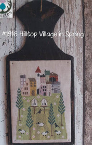 Hilltop Village in Spring by Thistles