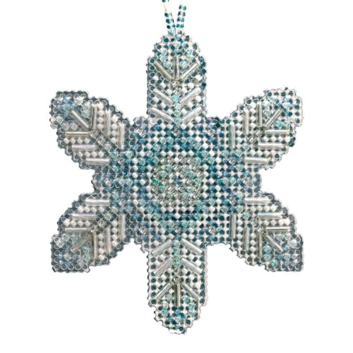 Opal Ice Snowflake Beaded Ornament MH21-2013 by Mill Hill