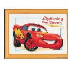Lightning McQueen Disney Counted Cross Stitch Kit by Vervaco - PN0014696