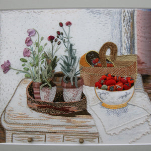 Still Life Flowerpots and Fruit Basket by Les Designs