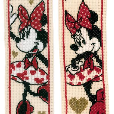 Disney It's about Minnie Bookmark kit by Vervaco - Set of Two PN-0183292