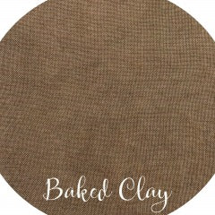 36CT Fox and Rabbit Hand Dyed linen Baked Clay Fat Half Yard