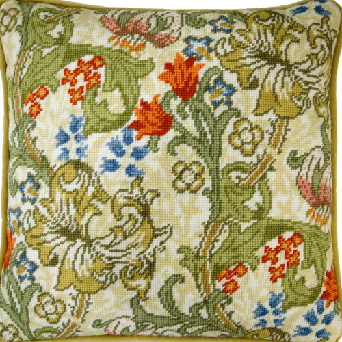 William Morris Golden Lily Tapestry Cushion Kit by Bothy Threads
