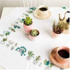 Rico Cacti Embroidered Table Cloth Kit R67416