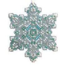 Aqua Mist Snowflake Beaded Ornament MH21-2015 by Mill Hill