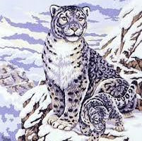 Snow Leopard Tapestry by Collection d'Art 50 x 60cm