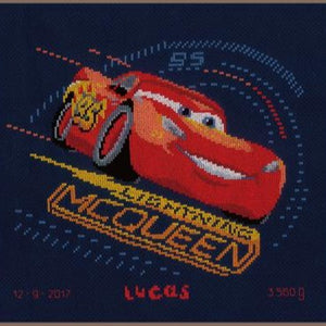 Screeching Tires Disney Birth Sampler by Vervaco - PN0167543