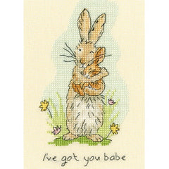 Ive Got You Babe Counted Cross Stitch Kit by Bothy Threads