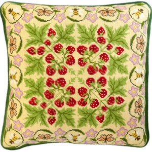 William Morris Strawberry Patch Tapestry Cushion Kit by Bothy Threads