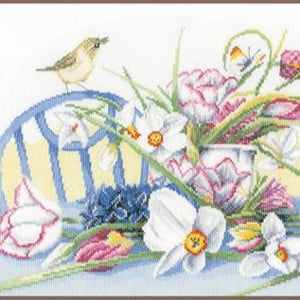 Daffodils on Table Counted Cross Stitch Kit by Lanarte - PN0147501