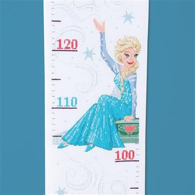 Frozen - Sisters Forever Disney Growth Chart Counted Cross Stitch Kit by Vervaco - PN0167087