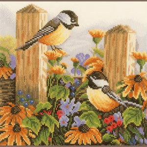 Chatting Birds Counted Cross Stitch Kit by Lanarte - PN0021834
