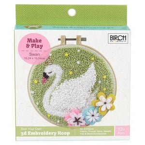 Punch needle Kit Swan by Birch