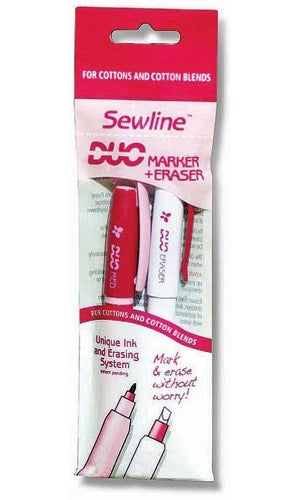 Sewline Duo Marker And Eraser - Medium - For Cottons and Cotton Blends