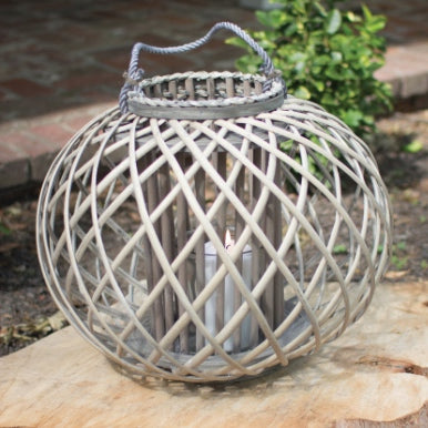 Large round willow lantern