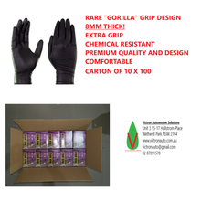 "Max Bold ""Goose Bump"" Textured Disposable Nitrile Glove Black"