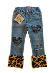 Leopard Love Distressed Jeans