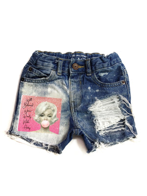 Well Behaved Women Distressed Denim Shorts