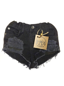 Black Hilo Super Distressed Shorties