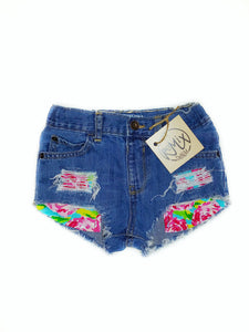 Lily Rose Hilo Distressed Shorties
