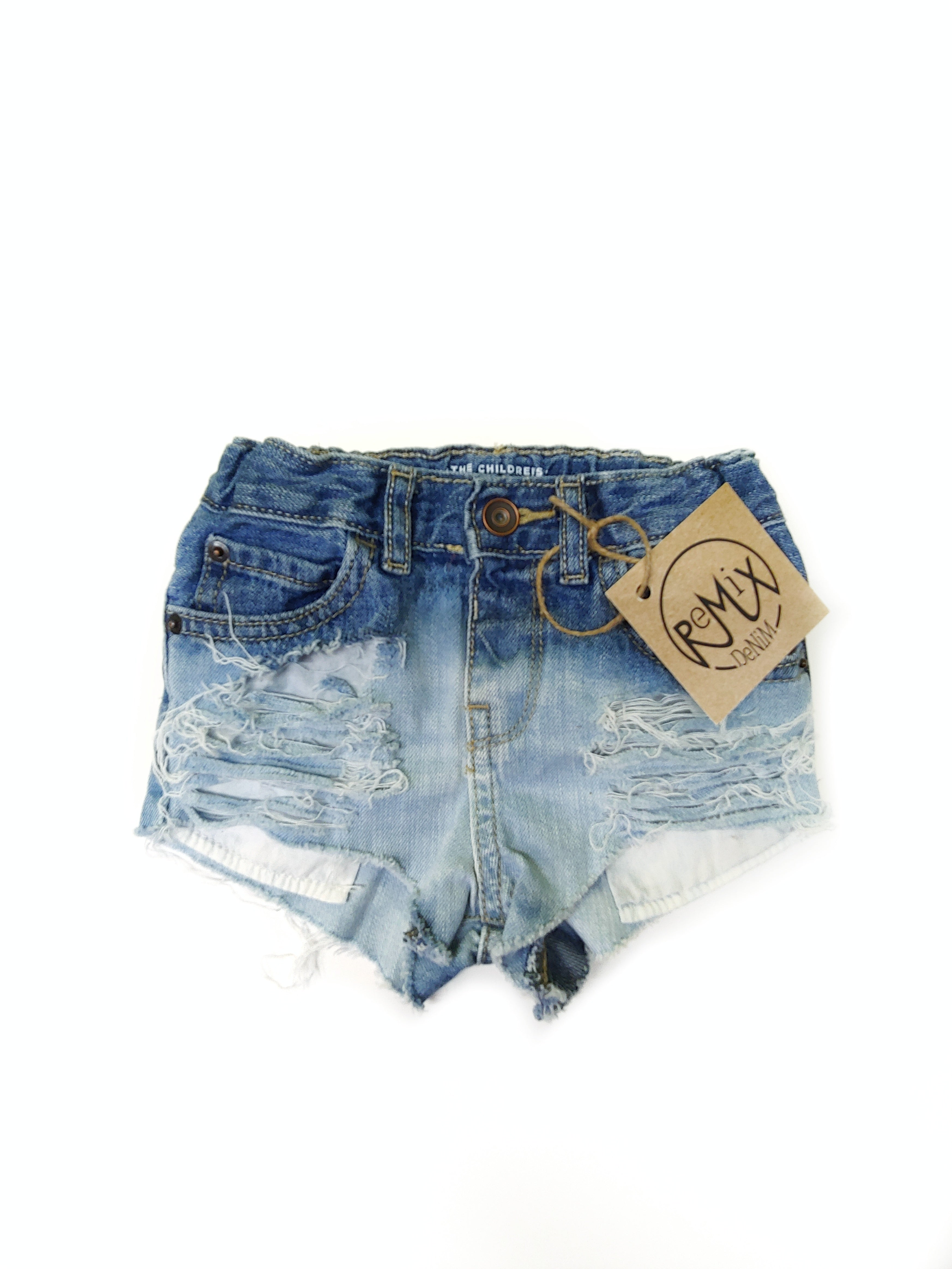 Medium Acid Dipped, Heavy Distressed Hilo Shorties