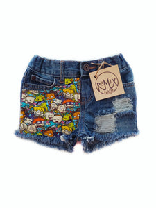 Rugrats Distressed Shorts