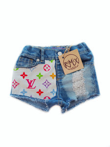 L*V Distressed Shorts